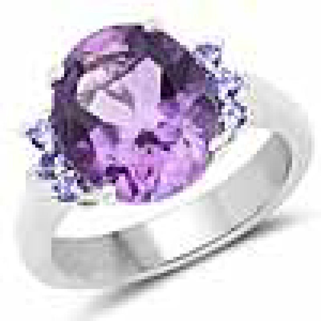 4.01 Carat Genuine Amethyst and Tanzanite .925 Sterling