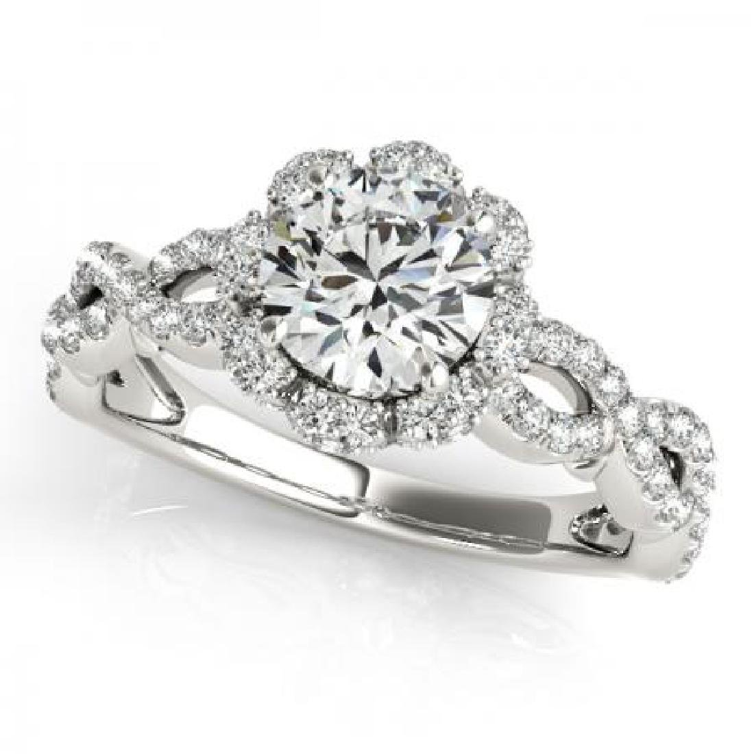 CERTIFIED PLATINUM 1.00 CT G-H/VS-SI1 DIAMOND HALO ENGA