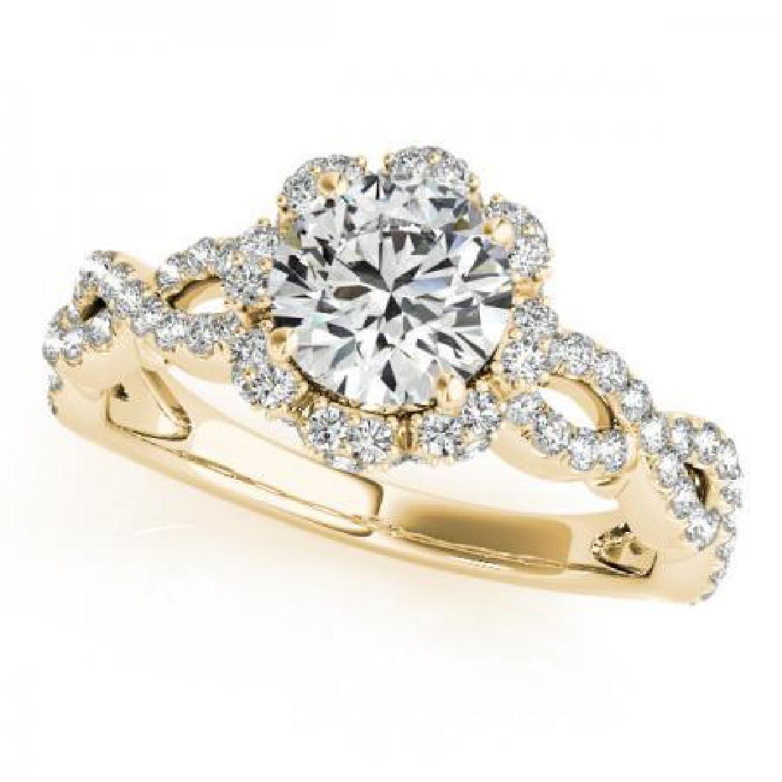 CERTIFIED 18K YELLOW GOLD 1.00 CT G-H/VS-SI1 DIAMOND HA