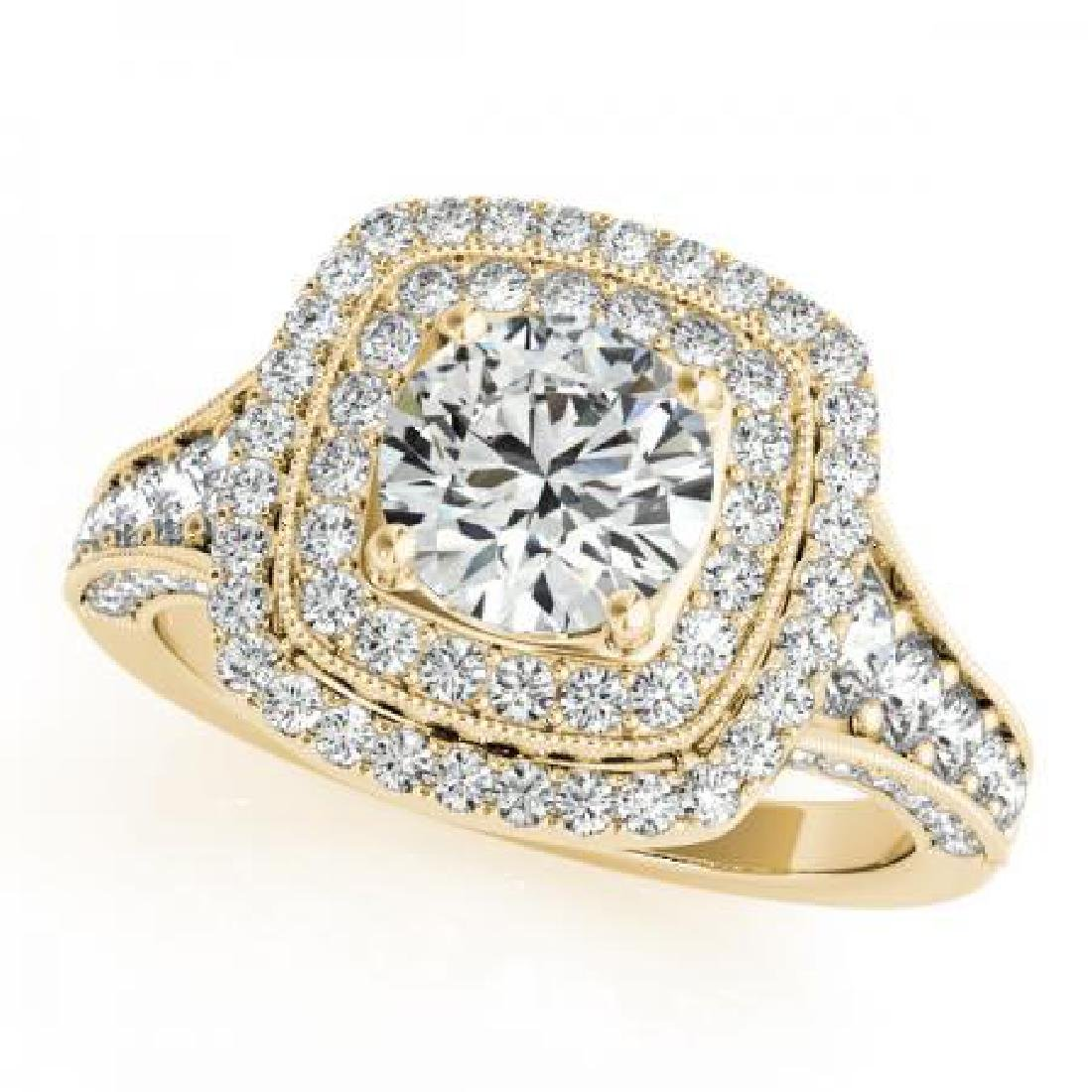 CERTIFIED 18K YELLOW GOLD 1.53 CT G-H/VS-SI1 DIAMOND HA