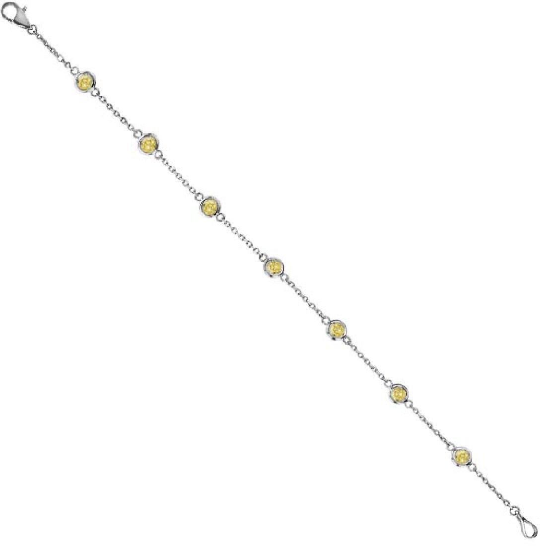 Yellow Diamonds by The Yard Bezel-Set Bracelet 14K Whit