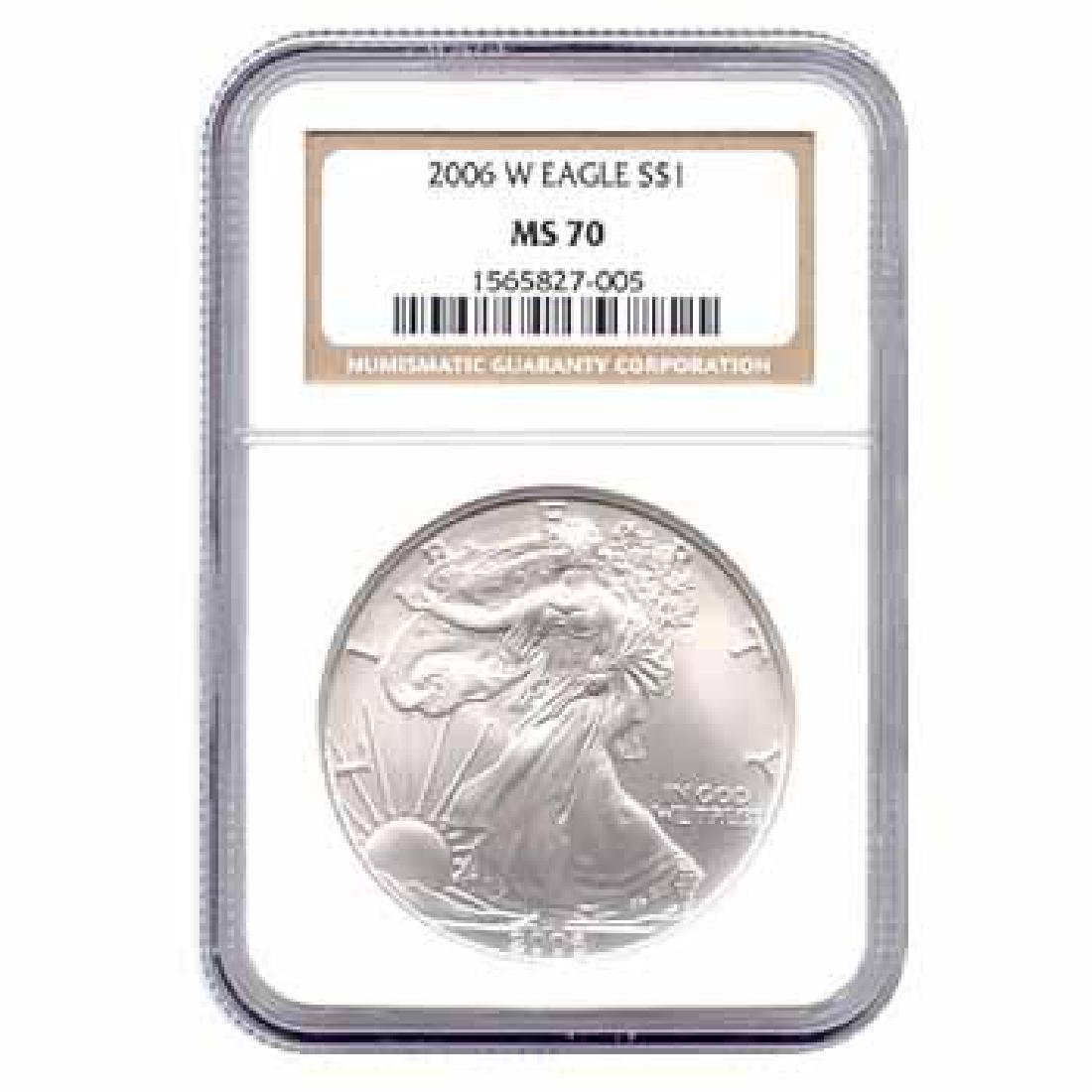 Burnished 2006-W Silver Eagle MS70 NGC