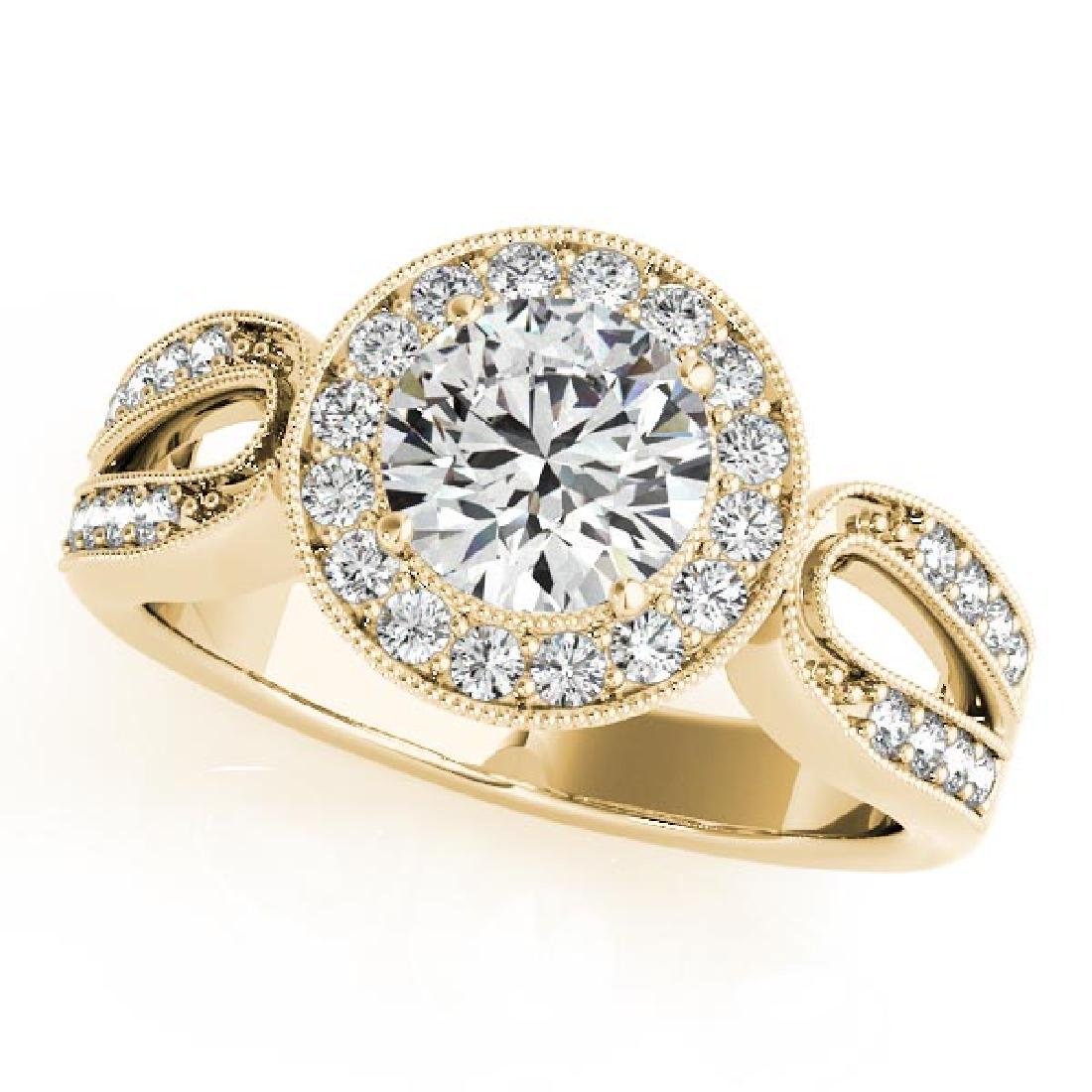 CERTIFIED 18K YELLOW GOLD .72 CT G-H/VS-SI1 DIAMOND HAL