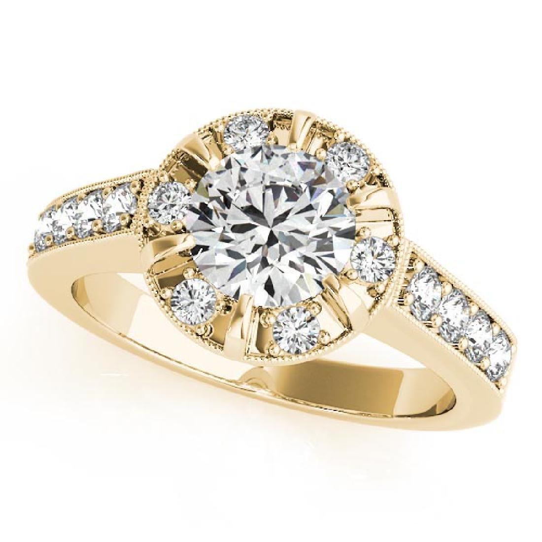 CERTIFIED 18K YELLOW GOLD 1.25 CT G-H/VS-SI1 DIAMOND HA