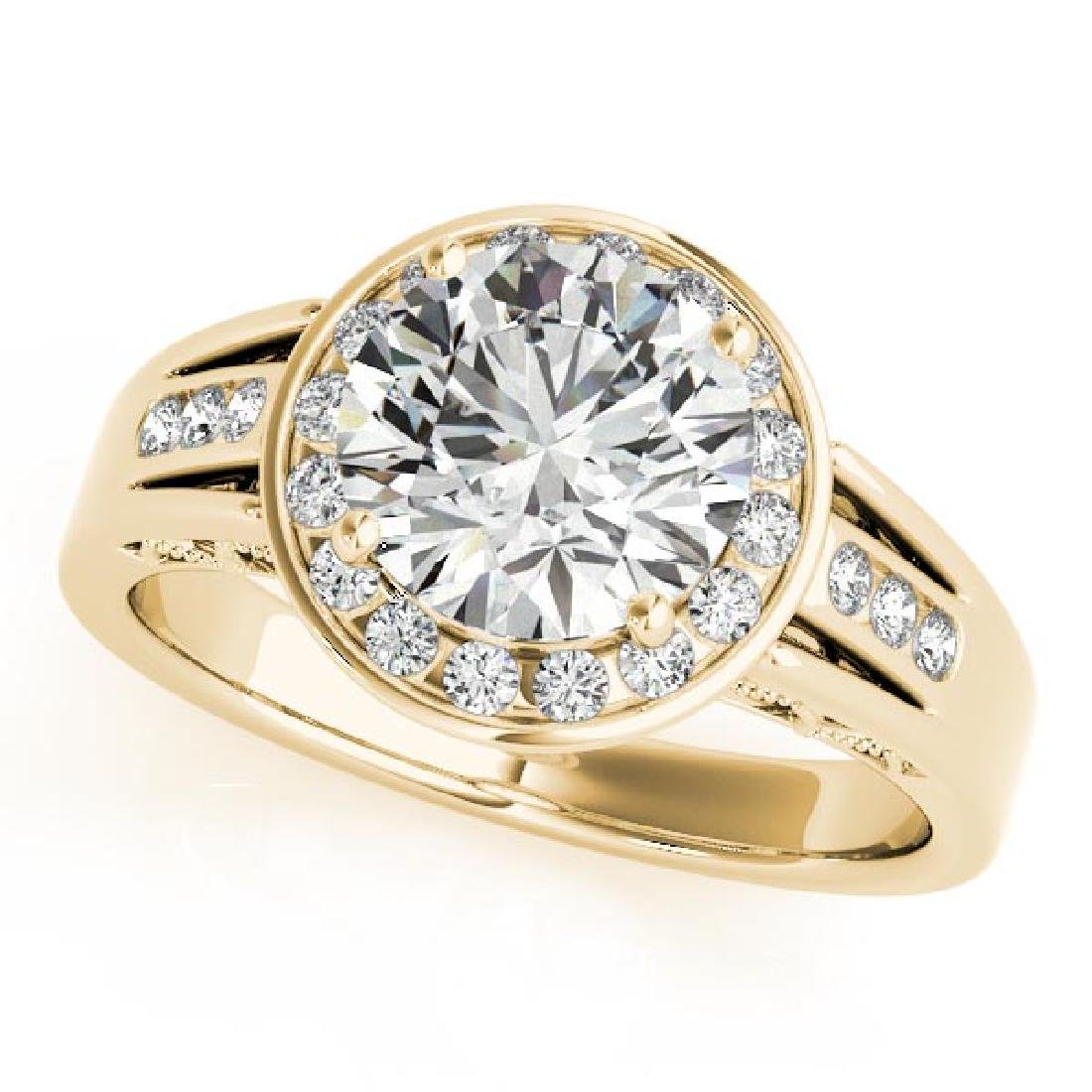 CERTIFIED 18K YELLOW GOLD .77 CT G-H/VS-SI1 DIAMOND HAL