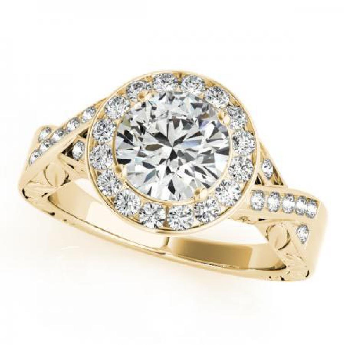 CERTIFIED 18K YELLOW GOLD 1.01 CT G-H/VS-SI1 DIAMOND HA