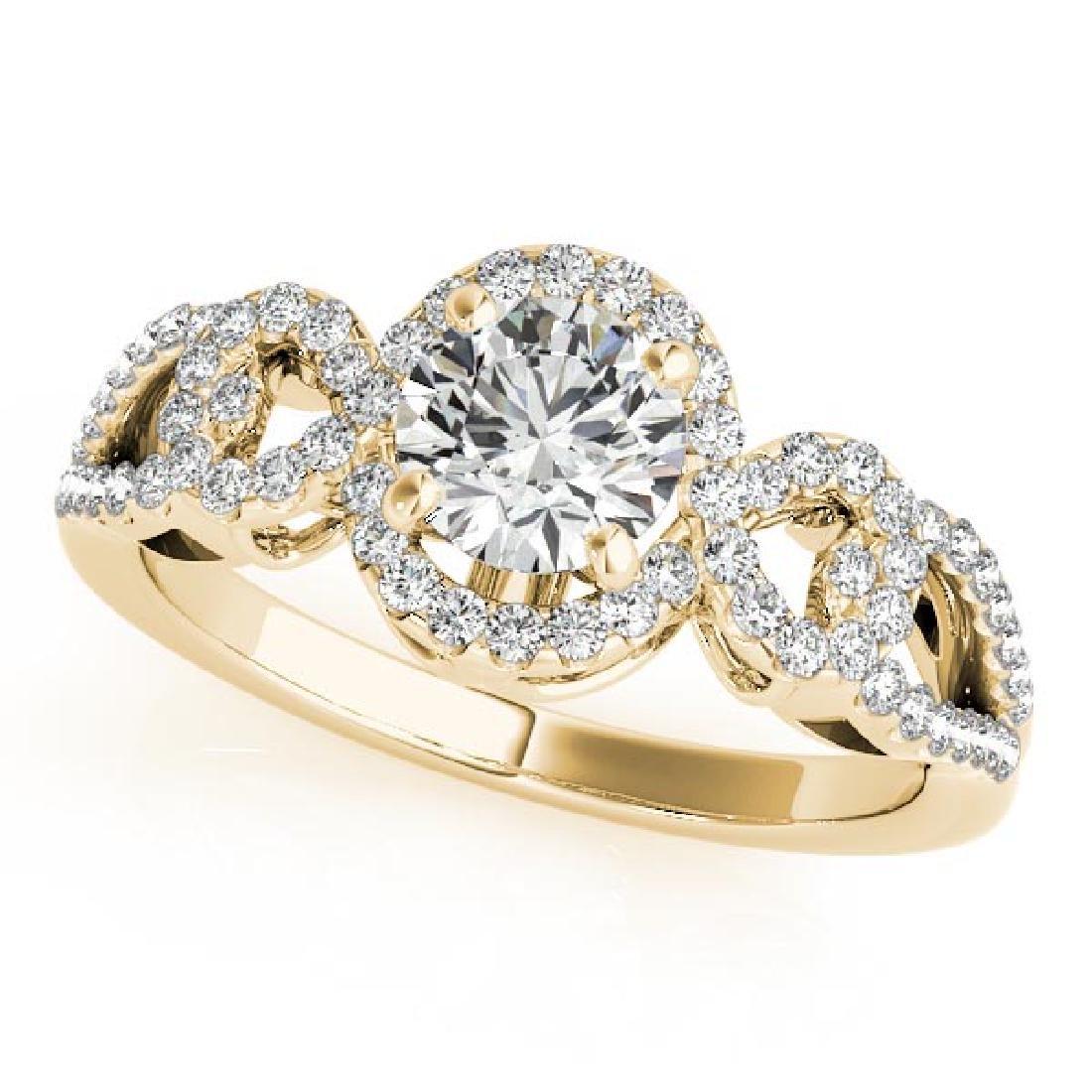 CERTIFIED 18K YELLOW GOLD 1.34 CT G-H/VS-SI1 DIAMOND HA
