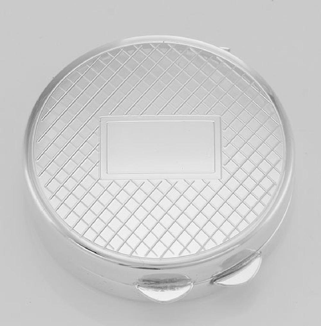 Classic Engravable Sterling Silver Round Engravable Pil