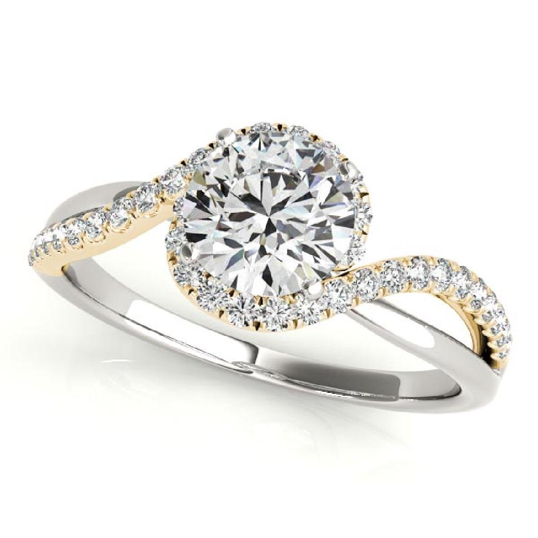CERTIFIED TWO TONE GOLD 1.43 CT G-H/VS-SI1 DIAMOND HALO
