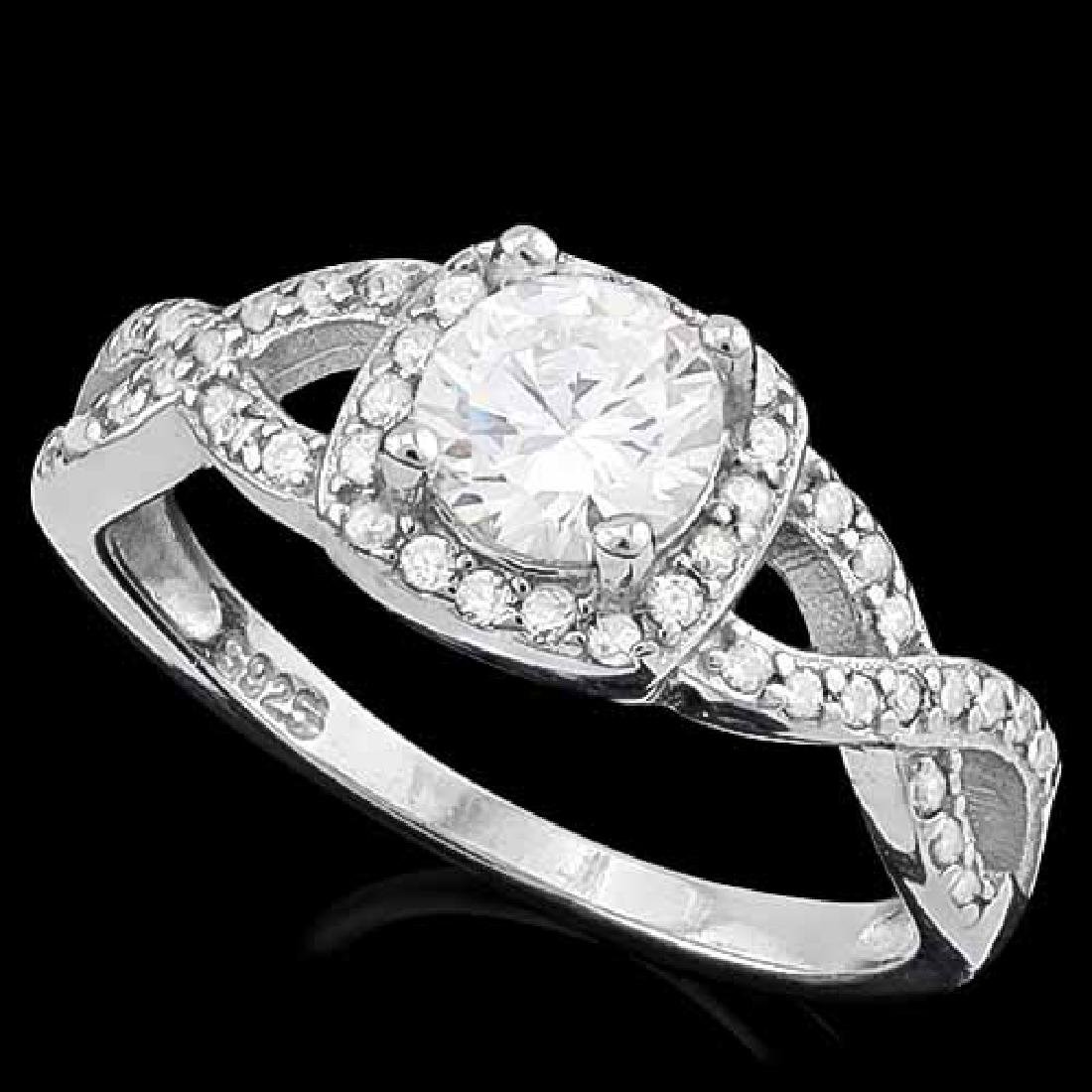 1 1/2 CARAT (49 PCS) FLAWLESS CREATED DIAMOND 925 STERL