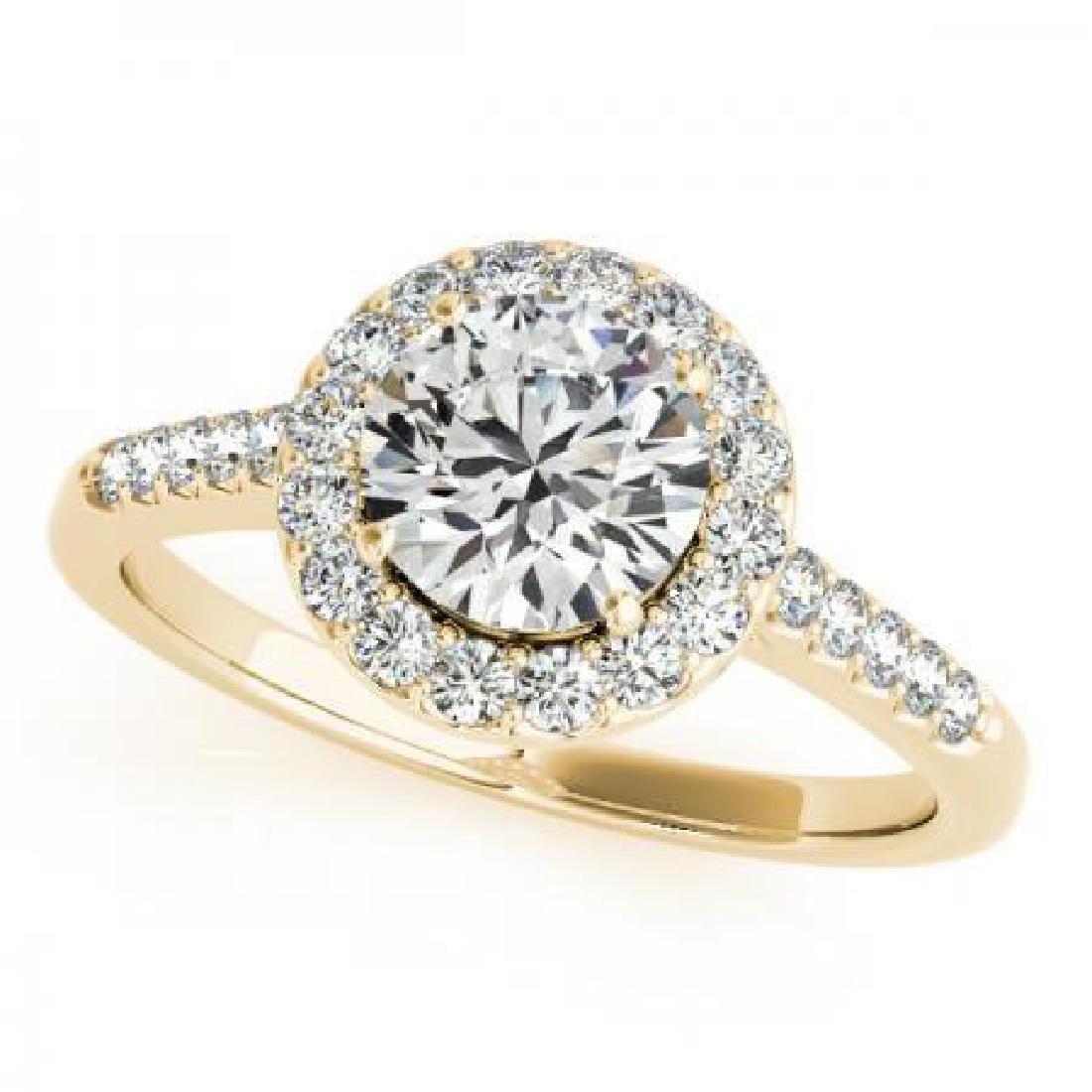 CERTIFIED 18K YELLOW GOLD 1.22 CT G-H/VS-SI1 DIAMOND HA
