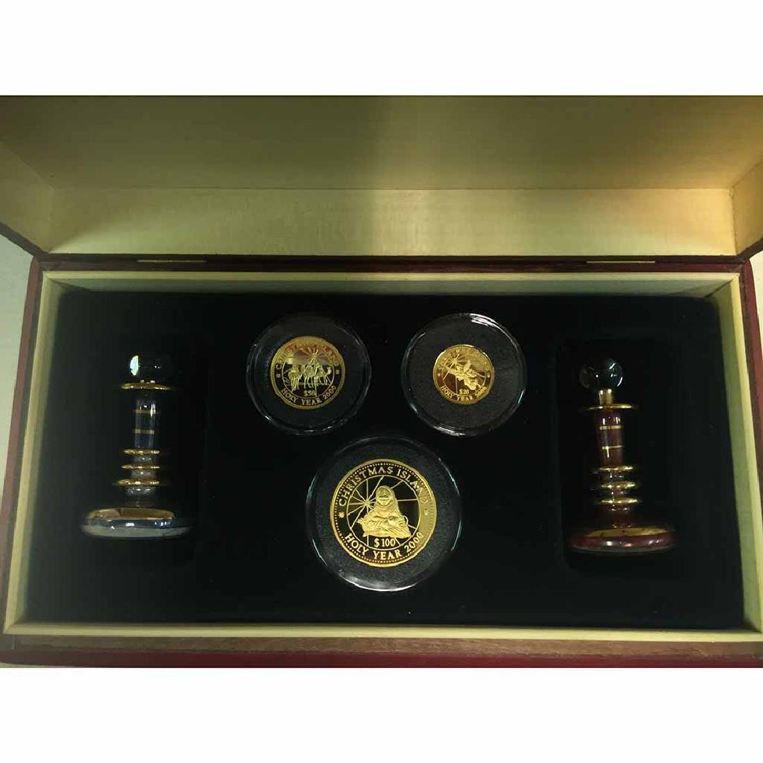Kiribati 3 Piece Gold Proof Set 1999 Christmas Island