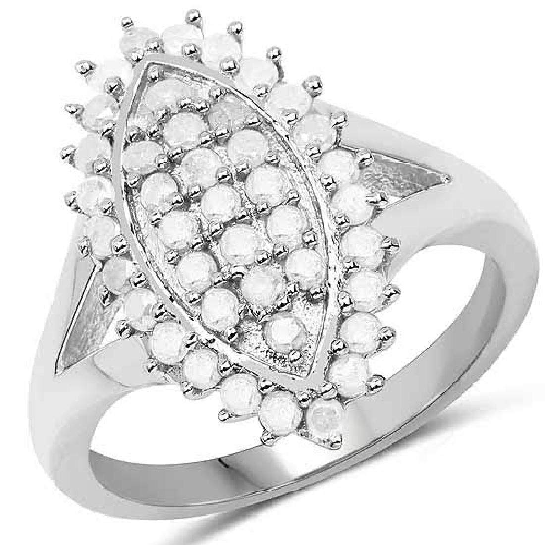 0.62 Carat Genuine White Diamond .925 Sterling Silver R