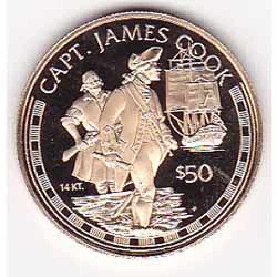 Cook Islands $50 gold PF 1997 Captain Cook