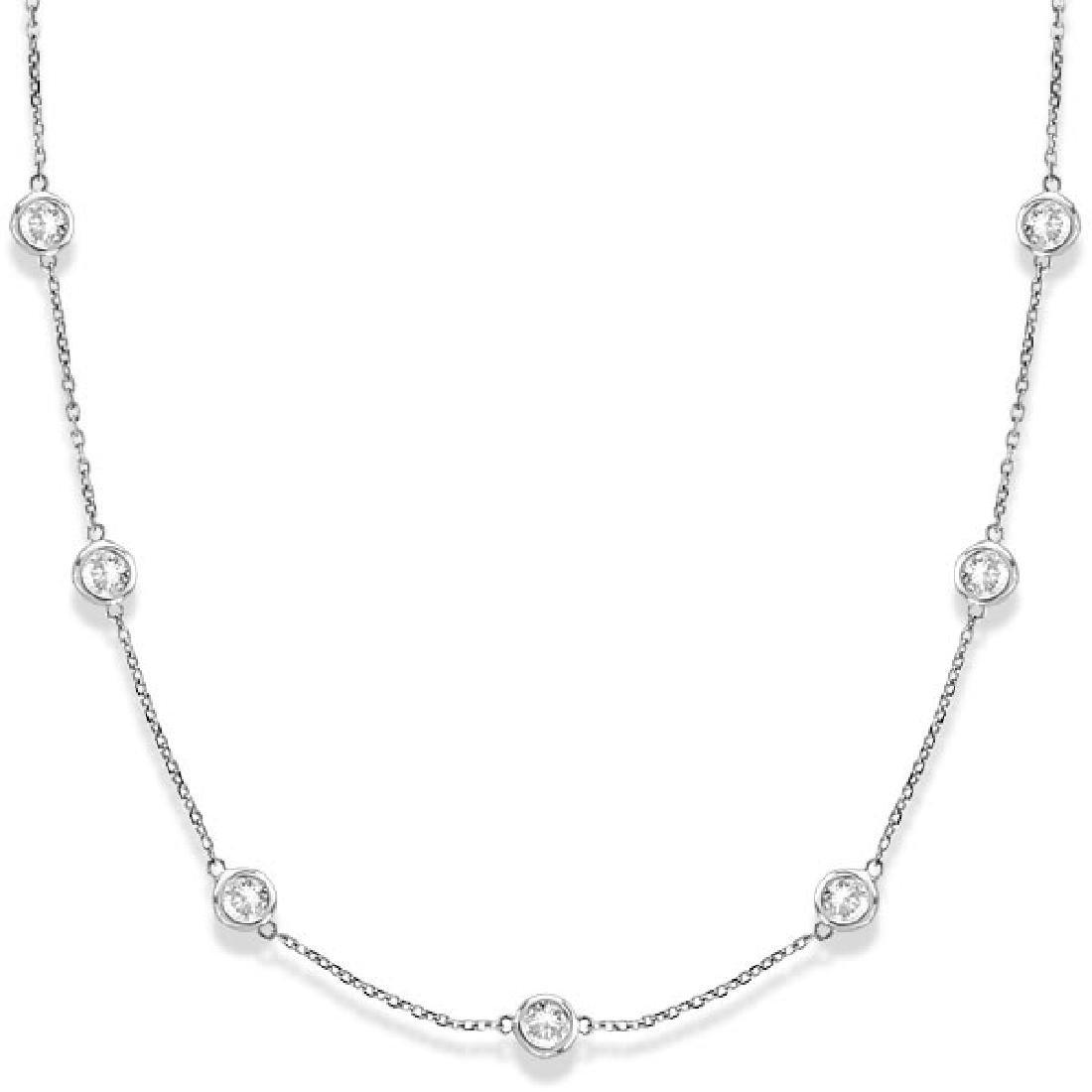 Diamonds by The Yard Bezel-Set Necklace 14k White Gold