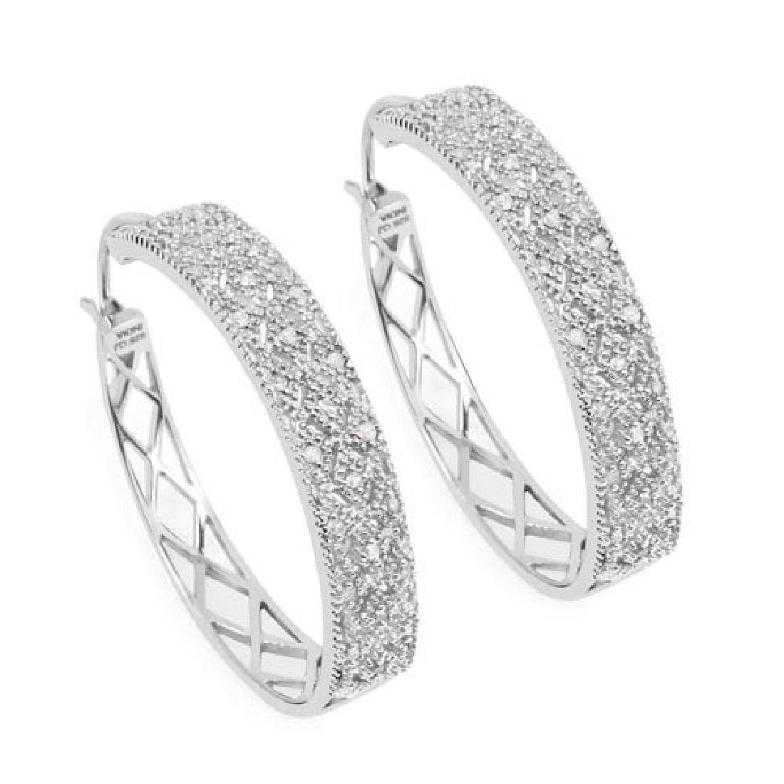 0.31 Carat Genuine White Diamond .925 Sterling Silver E