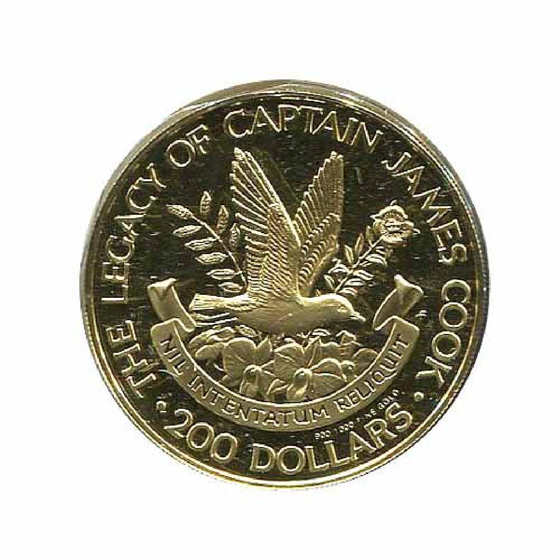 Cook islands $200 Gold 1979 Legacy of Captain Cook
