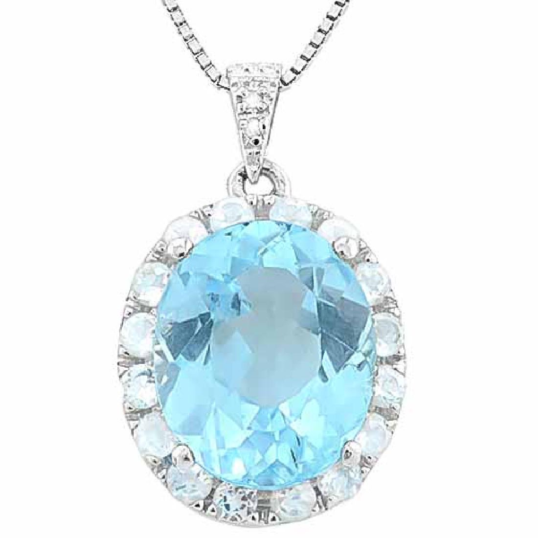 BABY SWISS BLUE TOPAZ & 11 1/5 CARAT (16 PCS) WHITE TOP