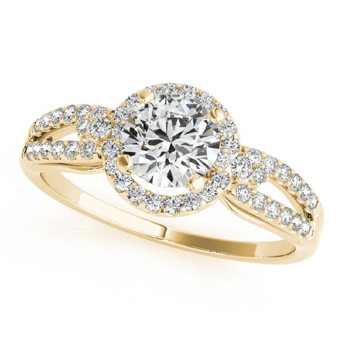 CERTIFIED 18K YELLOW GOLD 1.00 CT G-H/VS-SI1 DIAMOND HA
