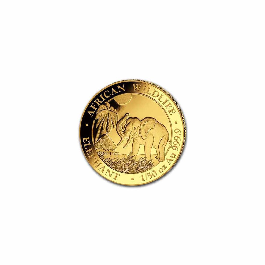 Somalia 2017 Gold Elephant 1/50 ounce