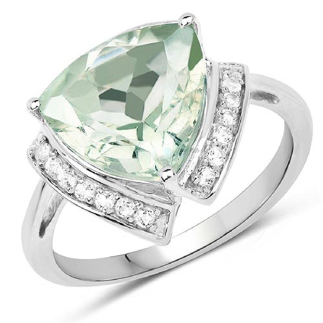 4.12 Carat Genuine Green Amethyst and White Topaz .925