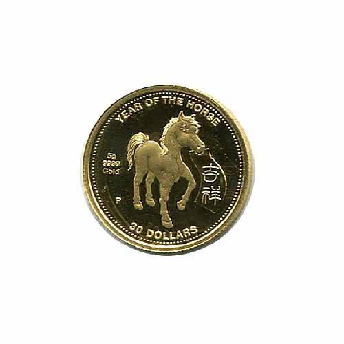 Cook Islands $15 Gold PF 5g. 2002 Year of the Horse