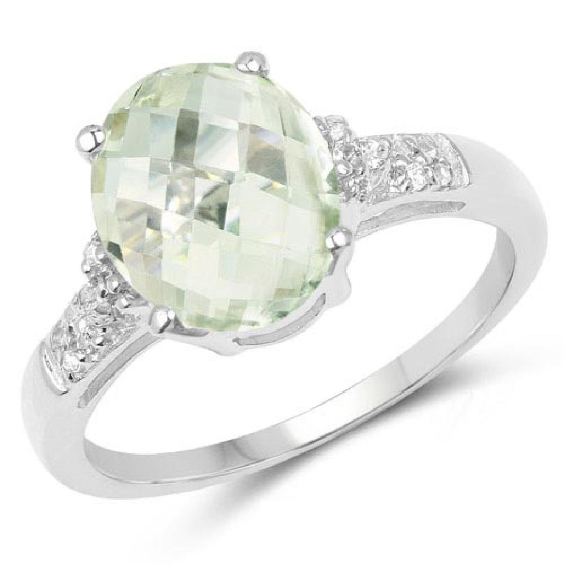 2.61 Carat Genuine Green Amethyst and White Topaz .925