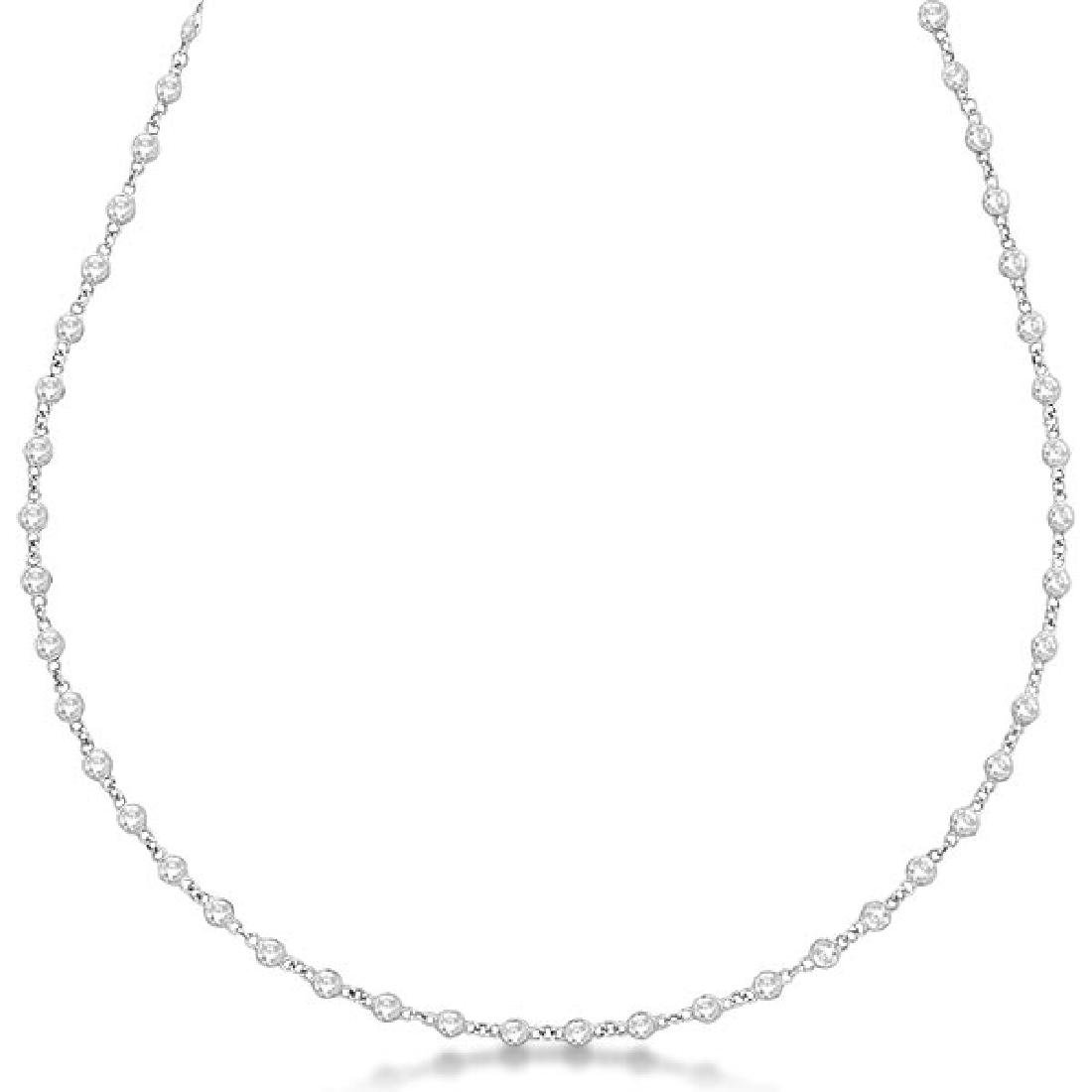 Diamonds by The Yard Eternity Necklace in 14k White Gol