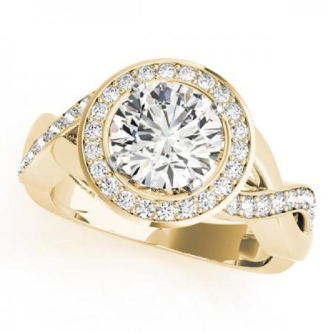 CERTIFIED 18K YELLOW GOLD 1.32 CT G-H/VS-SI1 DIAMOND HA