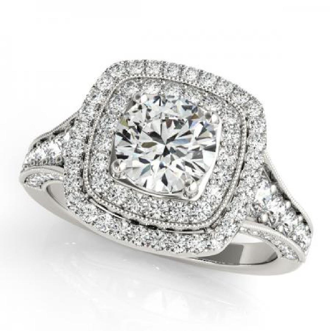 CERTIFIED PLATINUM 1.53 CT G-H/VS-SI1 DIAMOND HALO ENGA