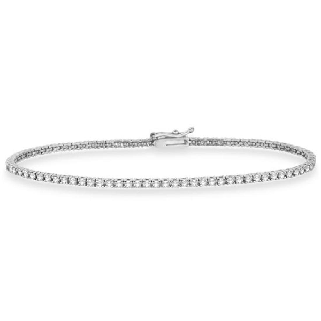 Eternity Diamond Tennis Bracelet 14k White Gold (2.10ct