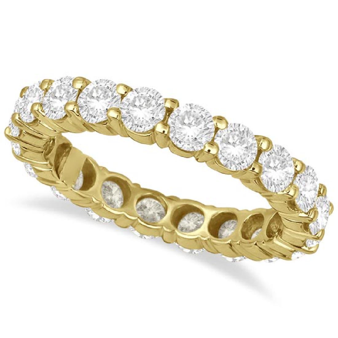 Diamond Eternity Ring Wedding Band 18k Yellow Gold (3.0