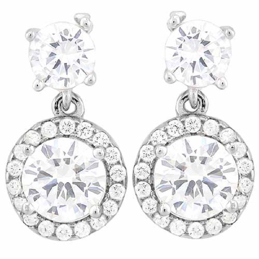 4 CARAT (40 PCS) FLAWLESS CREATED DIAMOND 925 STERLING