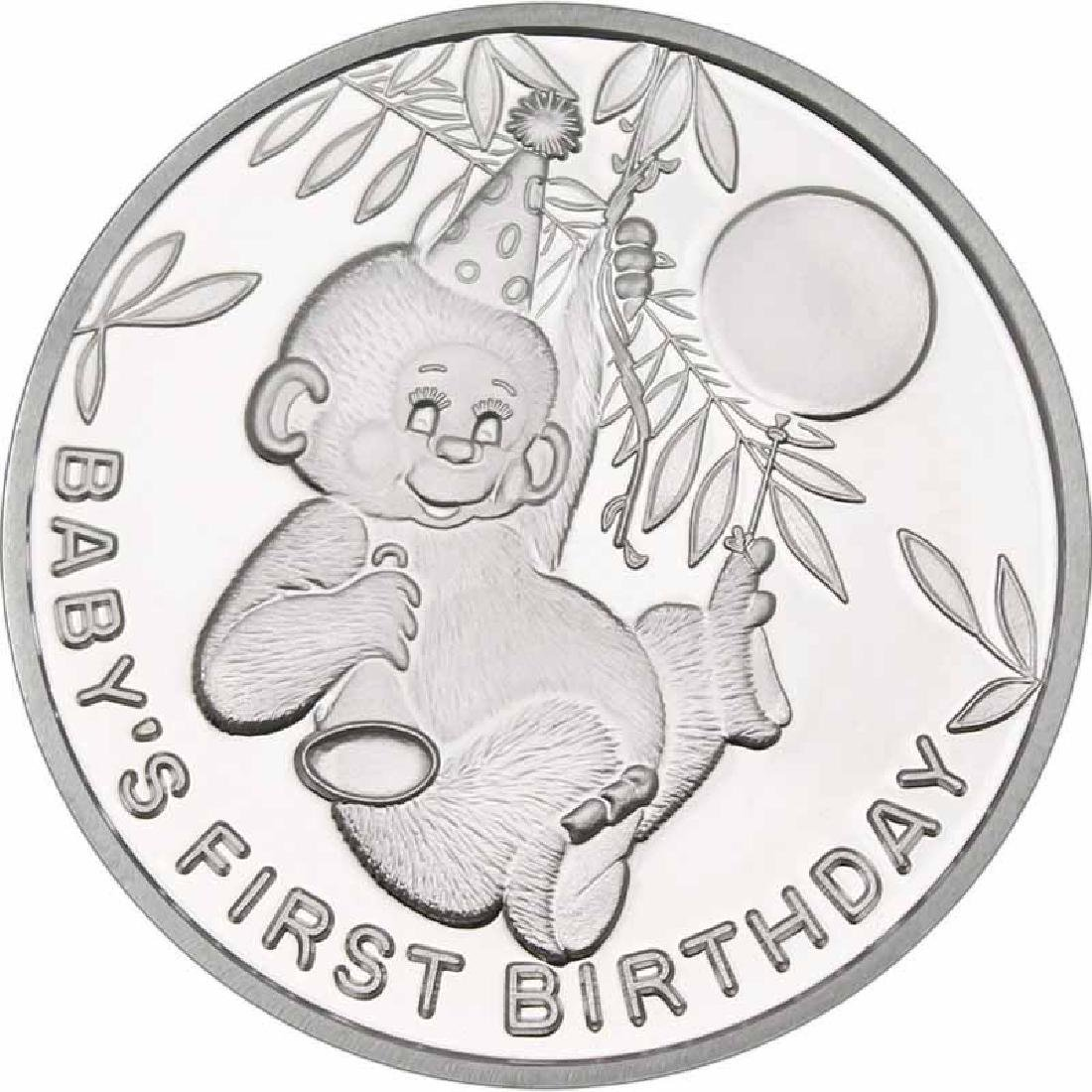 Babys First Birthday .999 Silver 1 oz Round