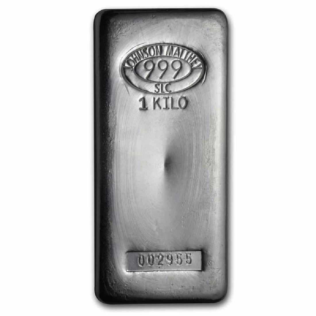 Johnson Matthey 1 Kilo Silver Bar (32.15 oz)