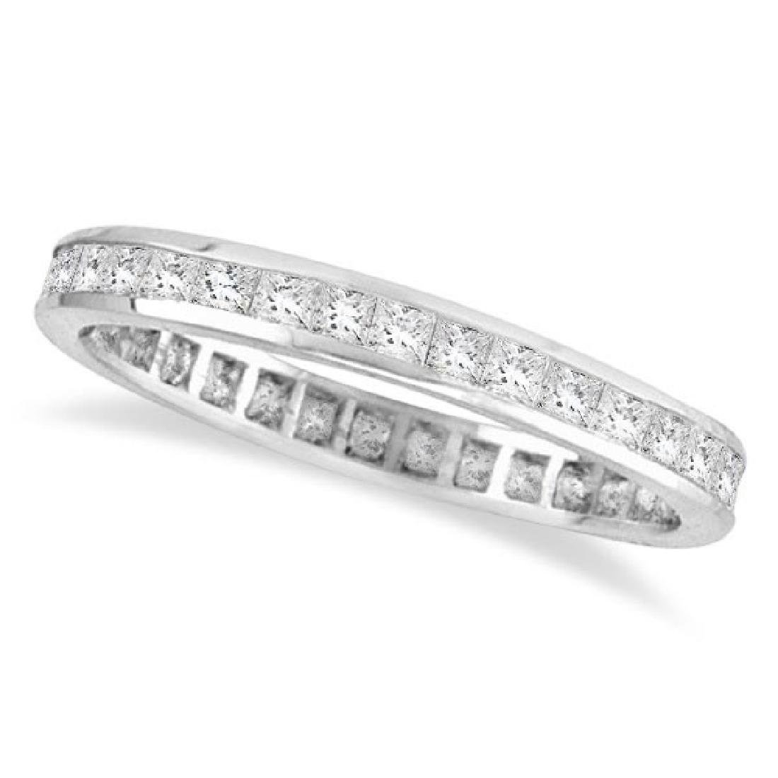 Princess-Cut Diamond Eternity Ring Band 14k White Gold