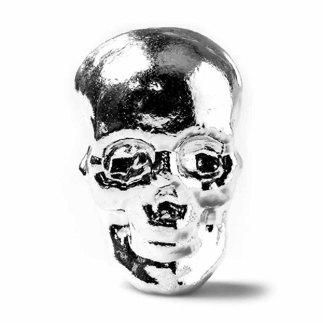 5 oz Atlantis Mint Hand Poured .999 Silver Skull