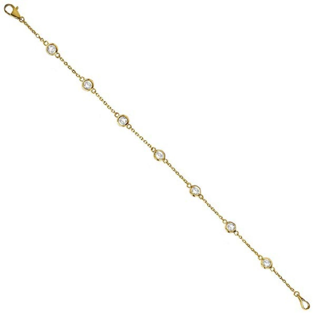 Diamonds by The Yard Bezel-Set Bracelet 14K Yellow Gold