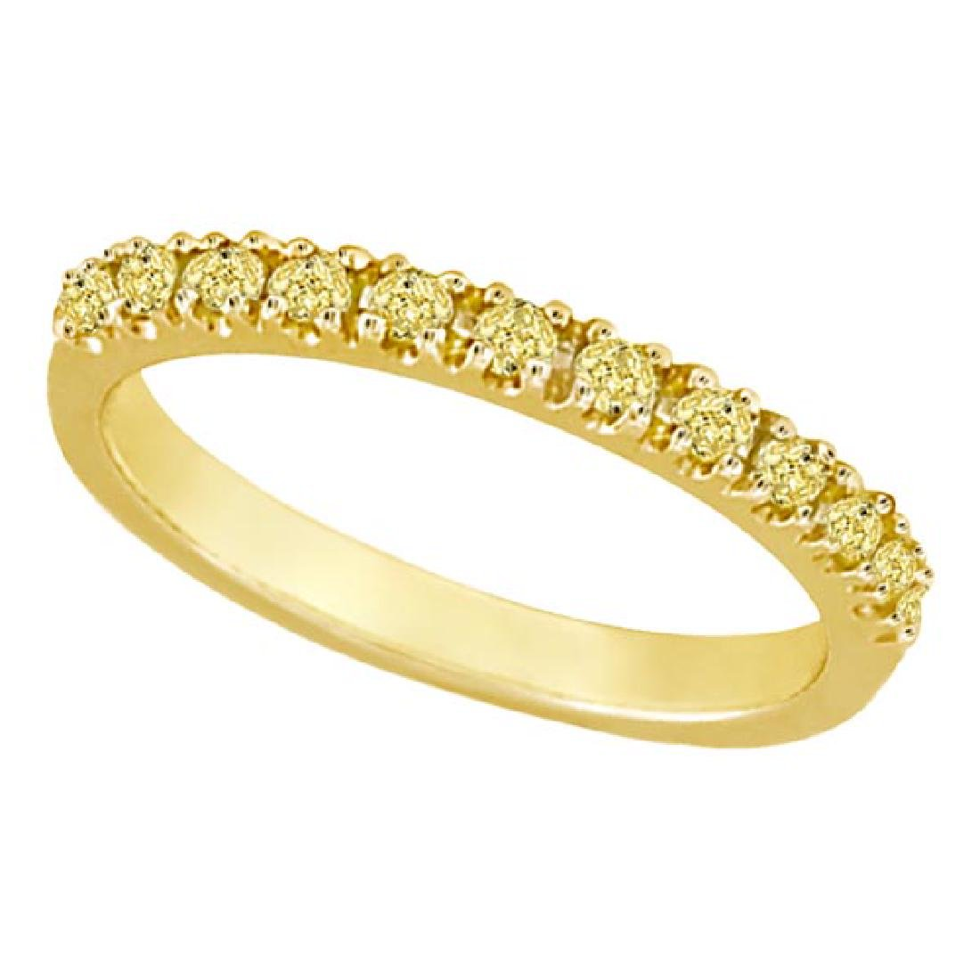 Yellow Canary Diamond Stackable Ring Band 14k Yellow Go
