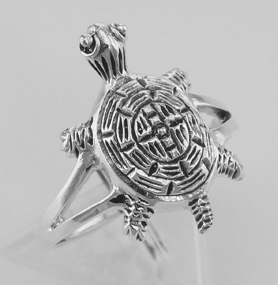 Fun Turtle Ring - Sterling Silver