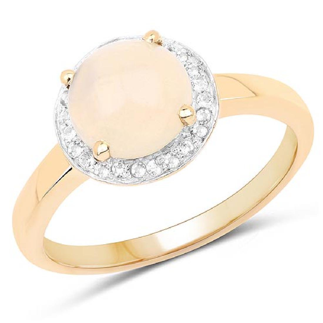 14K Yellow Gold Plated 0.97 Carat Genuine Ethiopian Opa