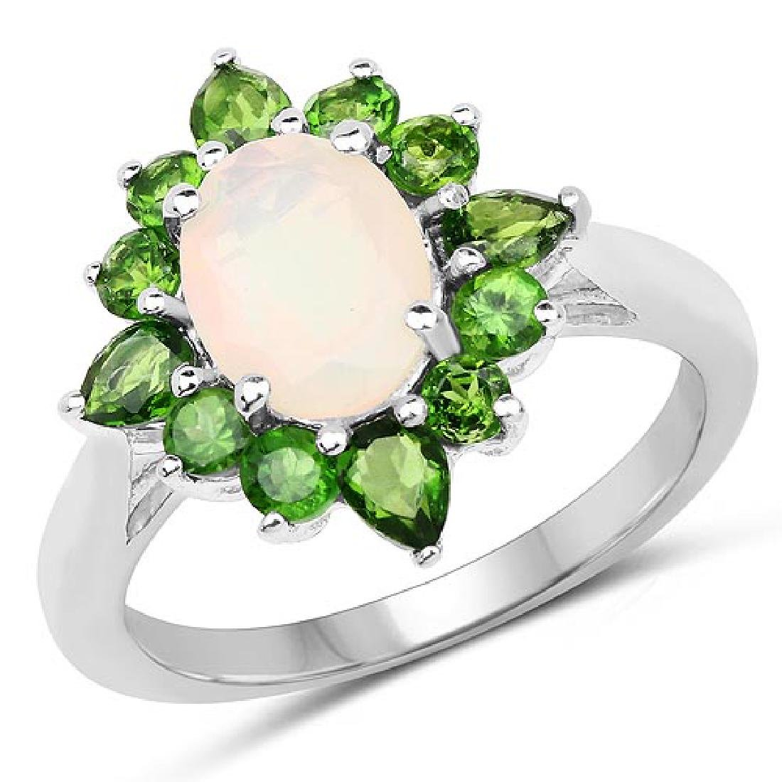2.16 Carat Genuine Ethiopian Opal and Chrome Diopside .