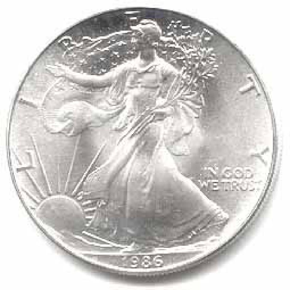 1986 1 oz Silver American Eagle BU