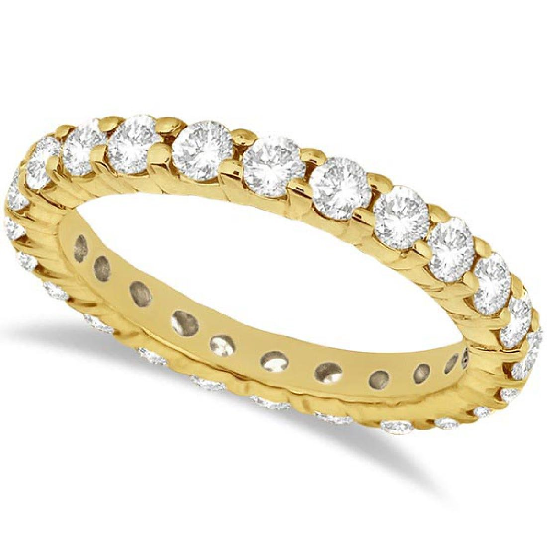 Diamond Eternity Ring Wedding Band in 14k Yellow Gold (