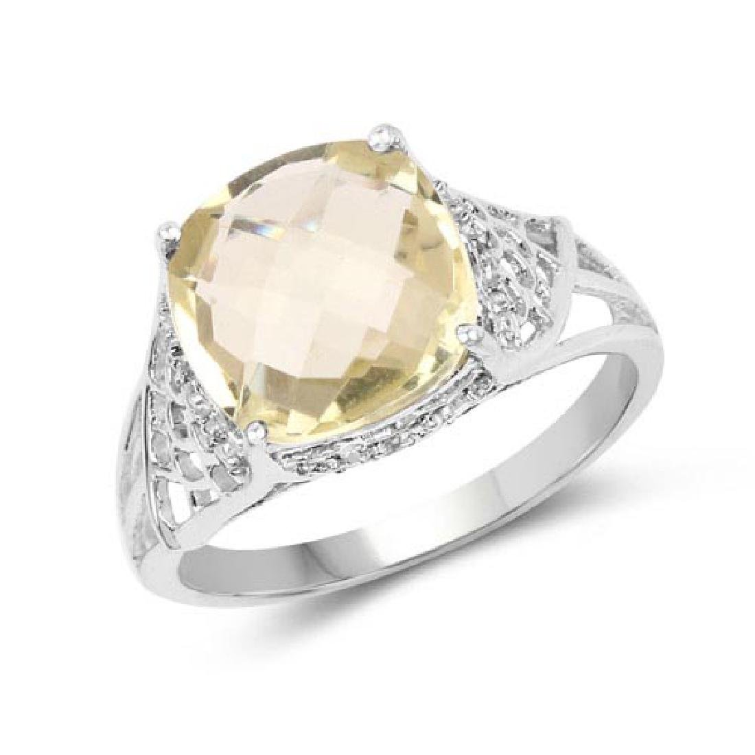 3.45 Carat Genuine Lemon Quartz and White Topaz .925 St