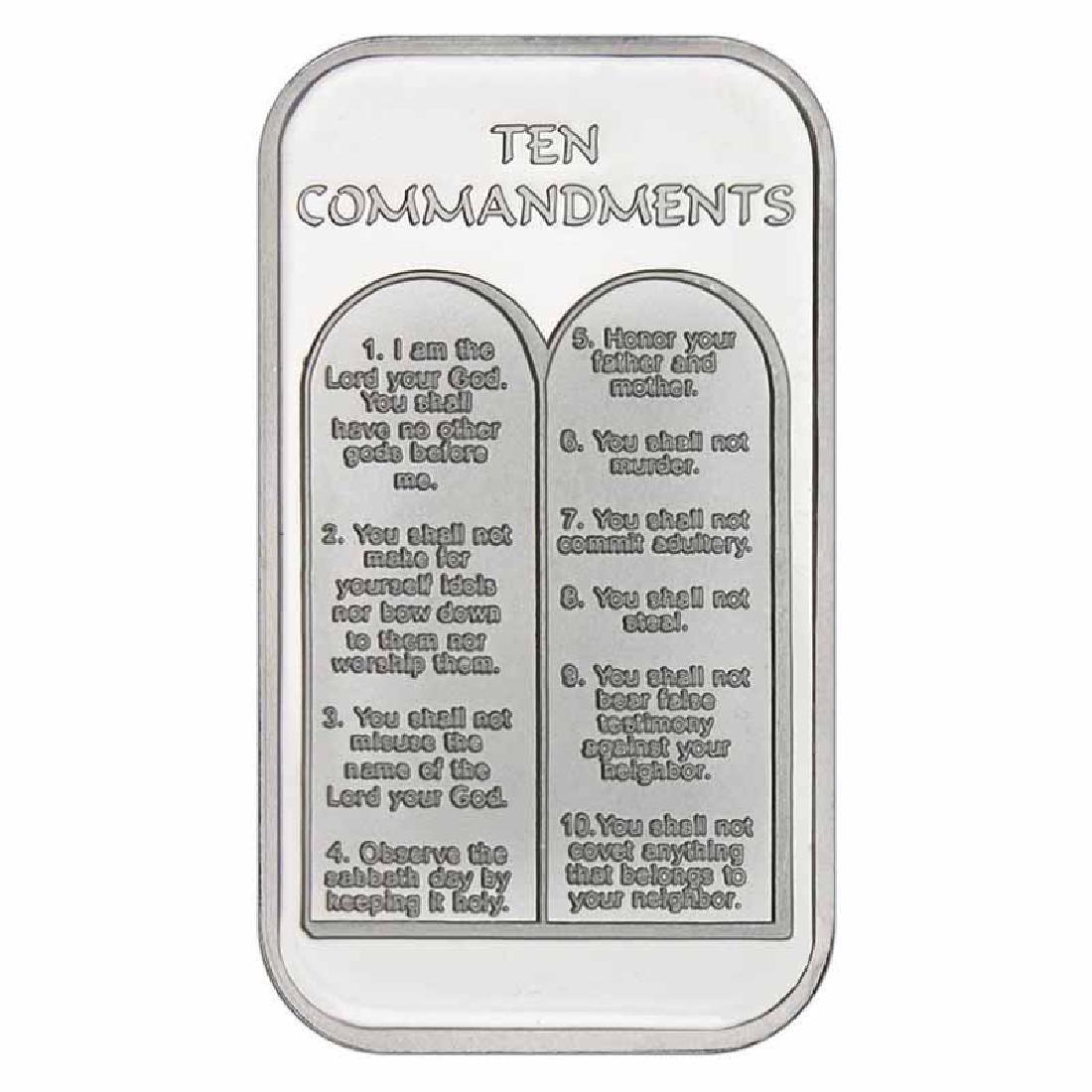 Ten Commandments .999 Silver 1 oz Bar