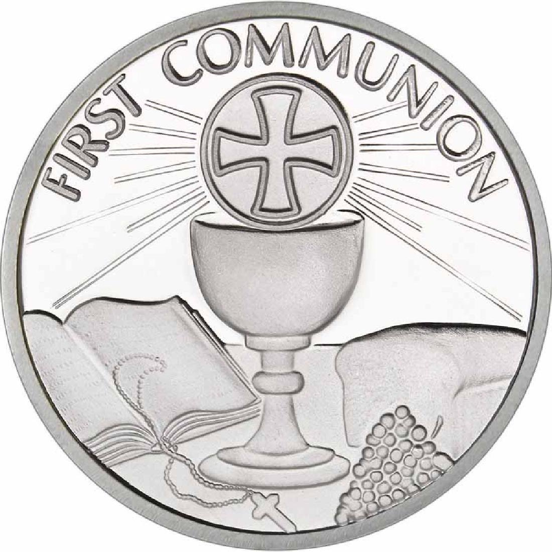 First Communion .999 Silver 1 oz Round