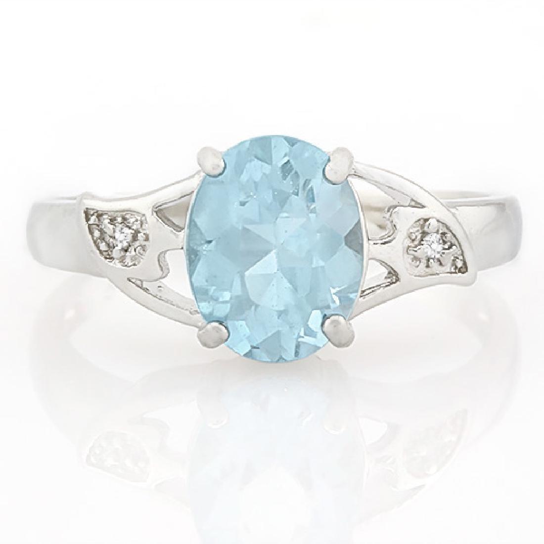 2 CARAT BABY SWISS BLUE TOPAZ & DIAMOND 925 STERLING SI