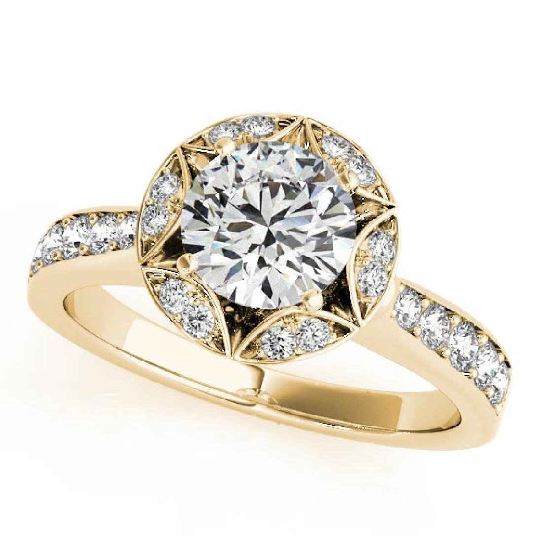 CERTIFIED 18K YELLOW GOLD 1.30 CT G-H/VS-SI1 DIAMOND HA