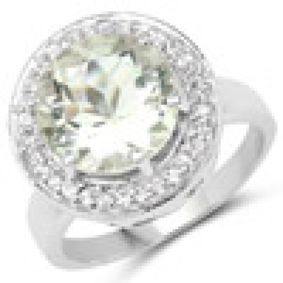 4.97 Carat Genuine Green Amethyst and White Topaz .925